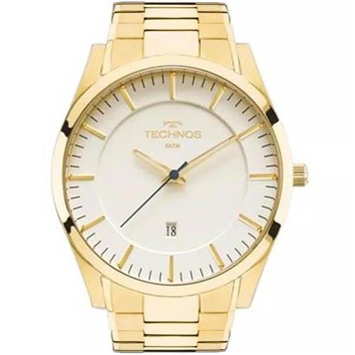 a990d98e7a903 Relógio Masculino Technos Slim Analógico GM10YF 4X Dourado