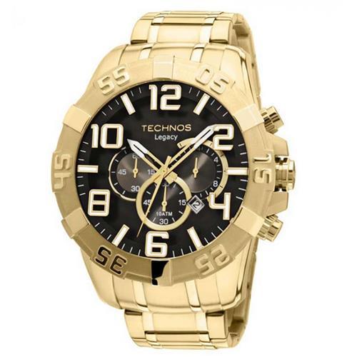 0dce38c29de Relógio Masculino Technos Analógico OS20IM 4P Dourado