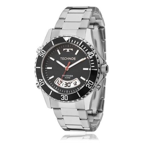 6fd25c71d57 Relógio Masculino Technos Skydiver Anadigi T205JB 1P Fundo Preto