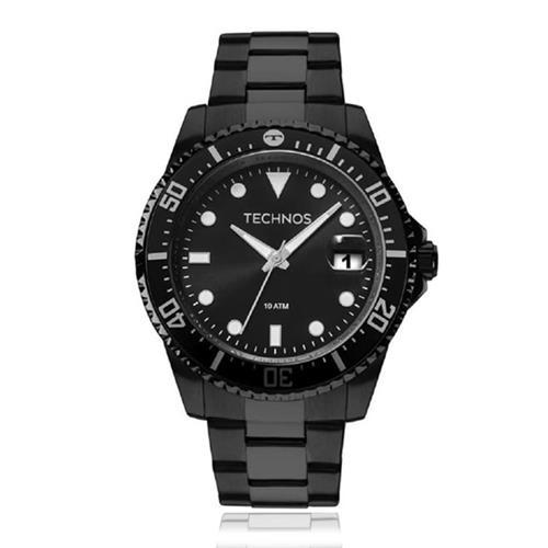 Relógio Masculino Technos Analógico 2415CL/4P Aço Negro