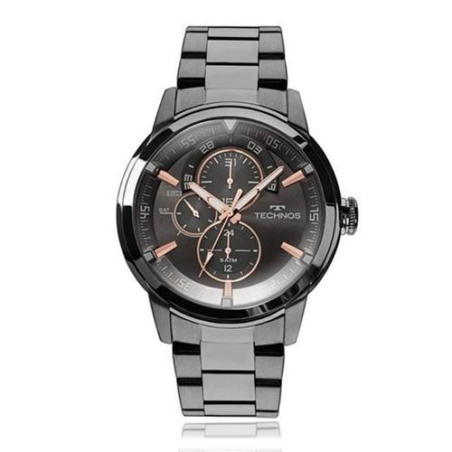 Relógio Masculino Technos Analógico 6P57AB/4P Aço Negro