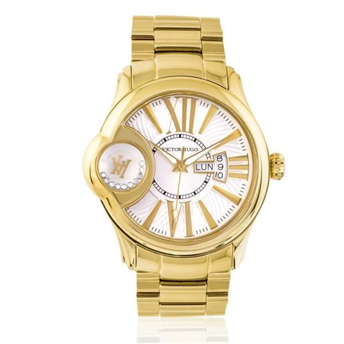 f59dec76b93 Relógio Victor Hugo VH11096LSG 06M Diamonds Gold