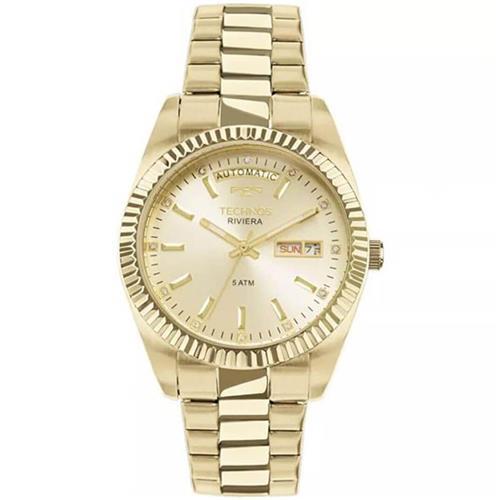 04010ab258631 Relógio Technos Riviera Automatic 8205OA 4X Dourado