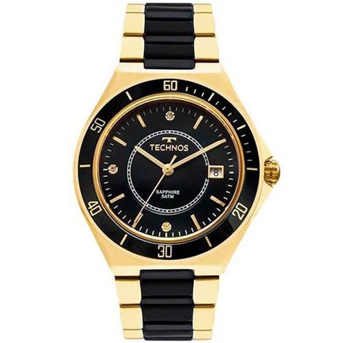 a971fc8504b Relógio Feminino Technos Sapphire Ceramic 2115MMN 4P Dourado