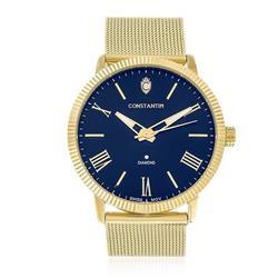 Relógio Masculino Constantim Diamond ZW20092A Fundo Azul