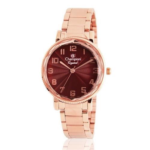 Relógio Feminino Champion Crystal CN25596I Aço Rose