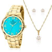 f3217742400 Relógio Feminino Champion Crystal CN27465Y Kit Colar.