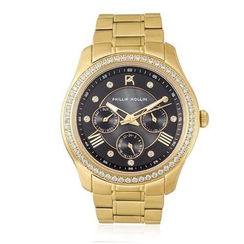 Relógio Feminino Phillip Kollin Monte Carlo ZY28083U Gold Black Diamond 9742c0a0ef