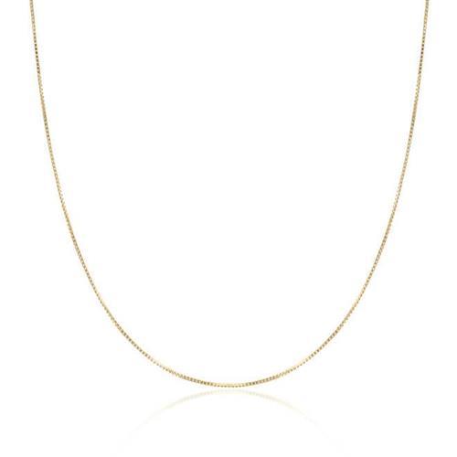 Corrente Malha Veneziana com 50 cm, em Ouro Amarelo