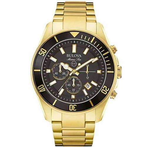 0704e1459ca Relógio Masculino Bulova Marine Star WB31774U Dourado