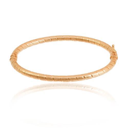 Bracelete Trabalhado em Ouro Rose