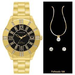 cb3576a720d Relógio Feminino Lince Analógico LRG4093L K011C2KX Dourado