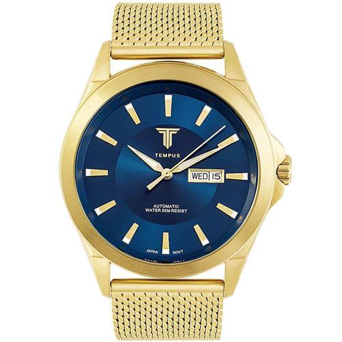 7136bffb6d7 Relógio Masculino Tempus Elite ZW20127A Gold Blue