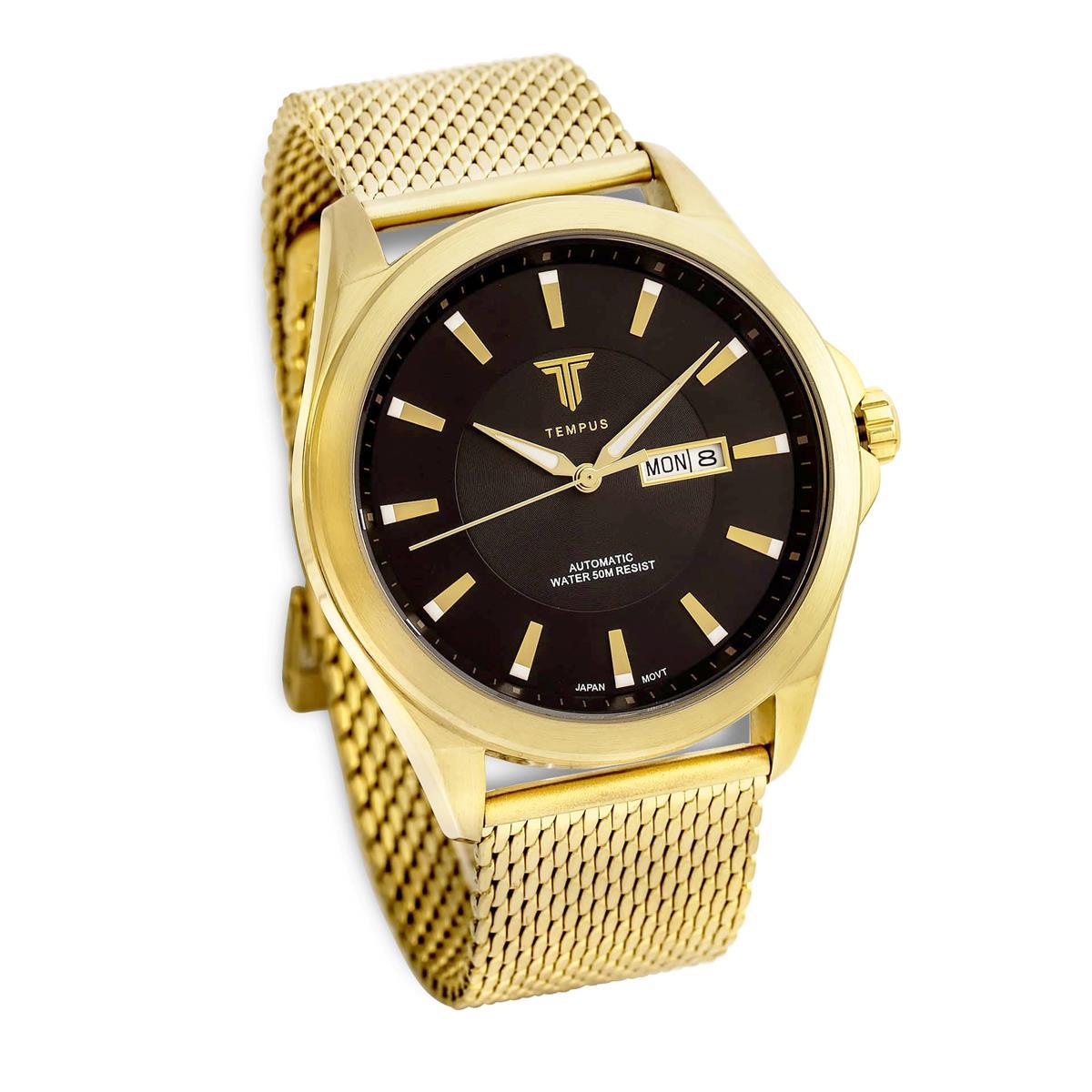 87b7222c505 Relógio Masculino Tempus Elite ZW20127U Gold Black