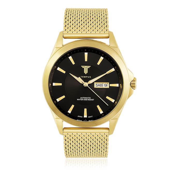 da23c478c56 Relógio Masculino Tempus Elite ZW20127U Gold Black. Ampliar