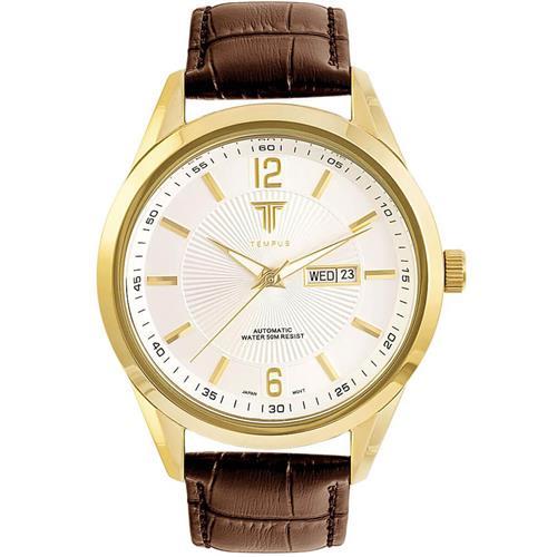 96cfba45d63 Relógio Masculino Tempus Elite ZW20136B Gold Silver