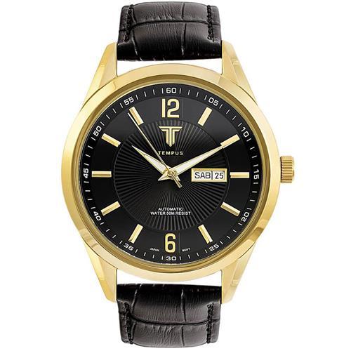 d83e35bc0c6 Relógio Masculino Tempus Elite ZW20136P Gold Black