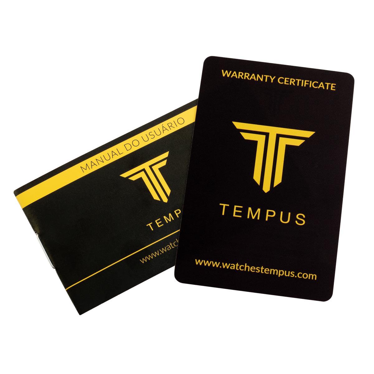 fe24eb04357 Relógio Masculino Tempus Elite ZW20136P Gold Black