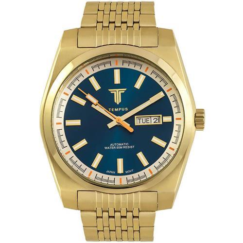 230ce63cce6 Relógio Masculino Tempus Yacht ZW30312A Gold Blue