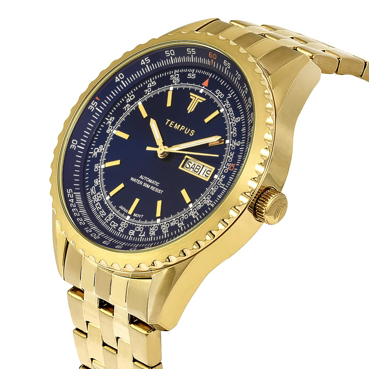 7c384507dba Relógio Masculino Tempus Magnific ZW30321A Gold Blue