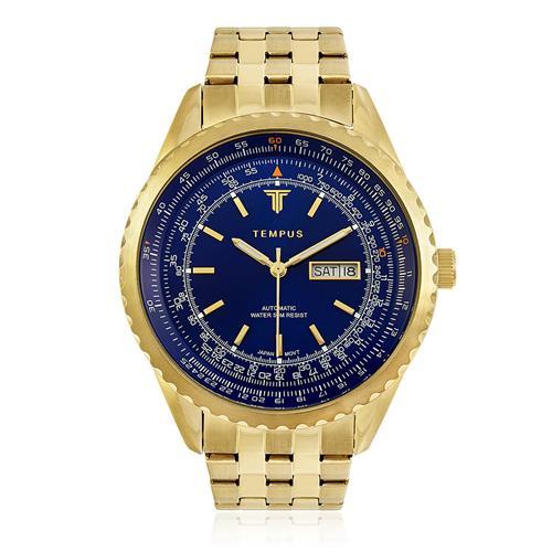 5278256e028 Relógio Masculino Tempus Magnific ZW30321A Gold Blue