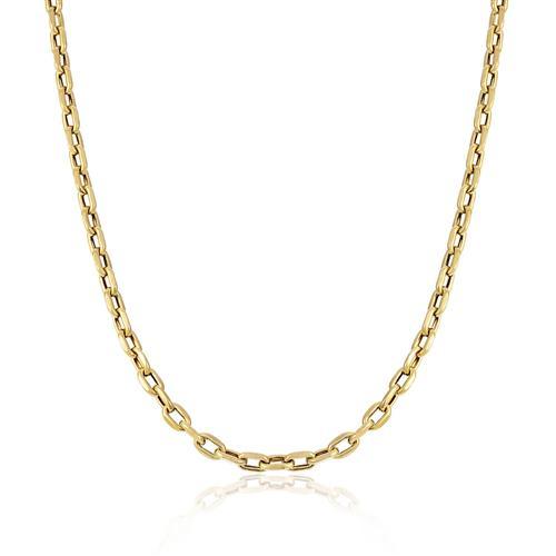 7e143bb3b16 Corrente de Ouro Masculina Elos Cartier arredondados