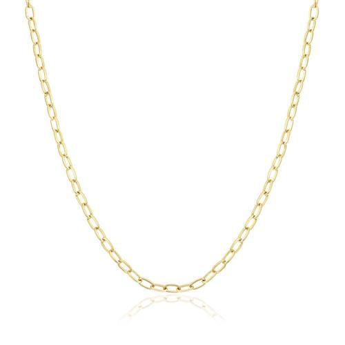 5783463709b Corrente de Ouro Feminina Elos Cartier arredondados
