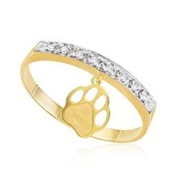0c33c64c144 Anel de Ouro com Berloque Patinha e 8 Diamantes