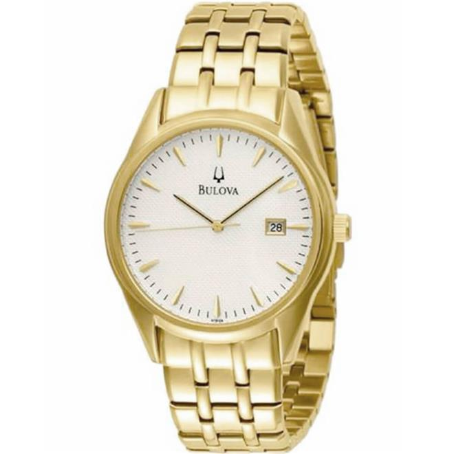 cde249c7413 Relógio Masculino Bulova Dress Analógico WB21445H Dourado. Ampliar