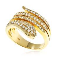 0d7abc10538 Anel de Ouro Serpente de Diamantes