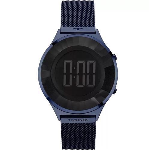 3098d02defc Relógio Feminino Technos Crystal Digital BJ3572AC 4P Azul