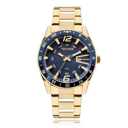 Relógio Masculino Technos Analógico 2115LAJ 4A Dourado   Joias Vip 1239e4d5c8