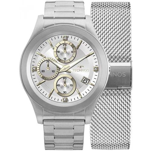 Relógio Masculino Technos Connect digital SRAD 1P Aço   Joias Vip b918f79111