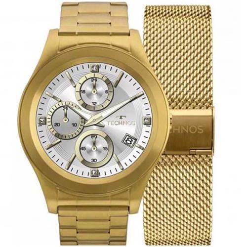 ad1117a3fff Relógio Masculino Technos Connect Digital SRAE 4P Aço Dourado