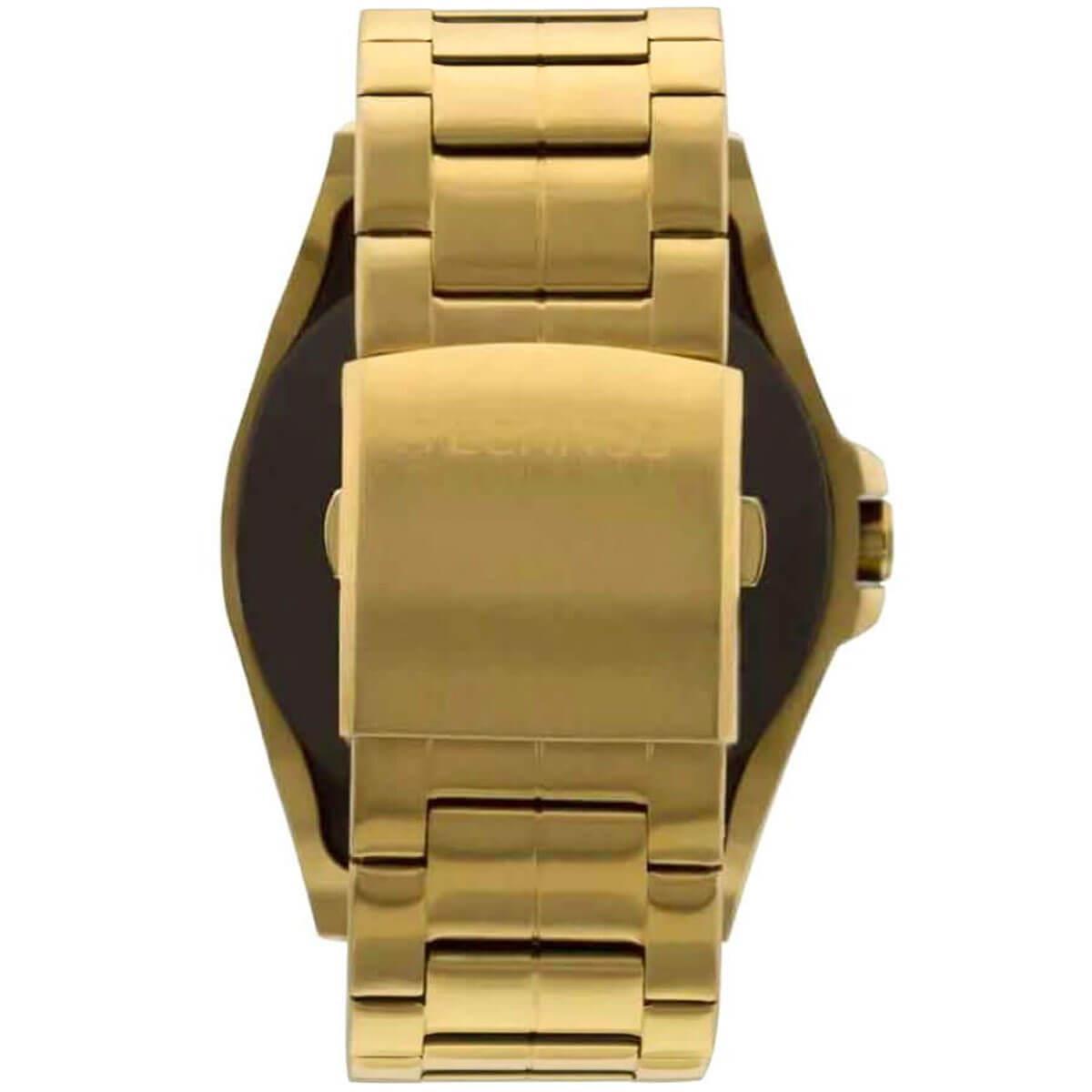4196c38243b Relógio Masculino Technos Connect Digital SRAE 4P Aço Dourado