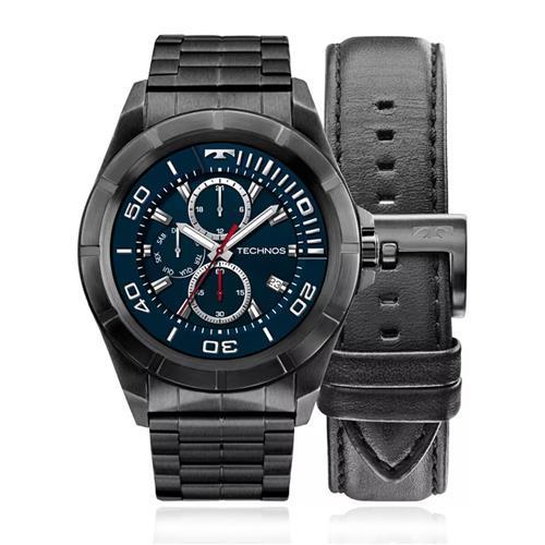25ac3b49c00ce Relógio Technos Connect SRAC 4P Aço Negro
