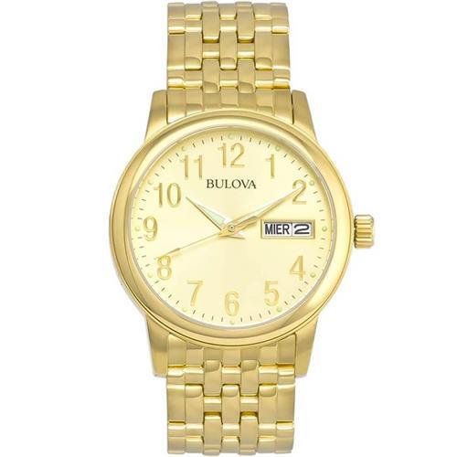 a7e7385a442 Relógio Masculino Bulova Emeritus Analógico WB21105G Champagne