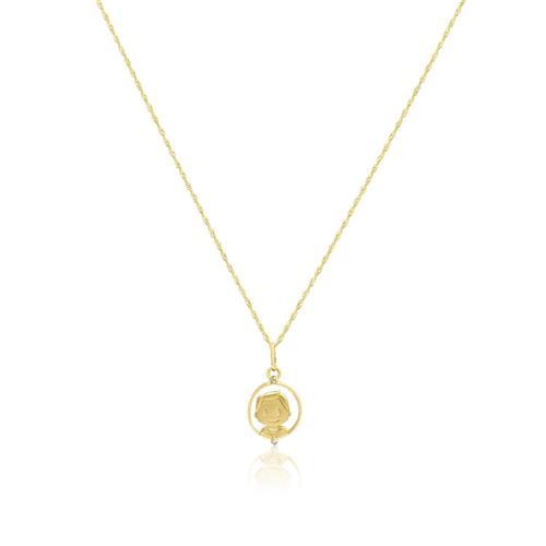 7d6ffbf1f9bc5 Corrente de ouro com Pingente de Ouro modelo Menino com Diamantes