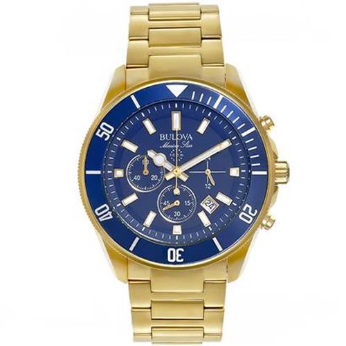 83dcdbe6ca2 Relógio Masculino Bulova Marine Star Analógico WB31774Z Dourado