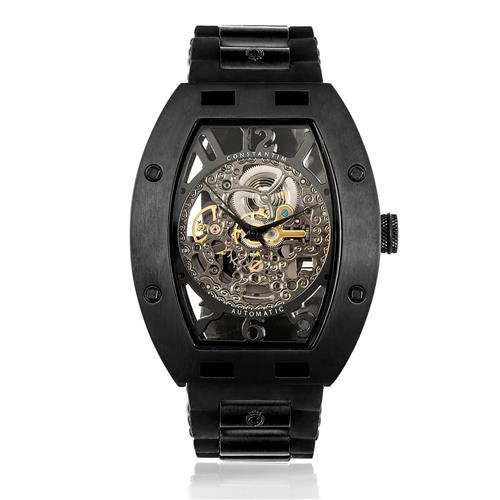 b590c598198 Relógio Masculino Constantim Full Skeleton ZW30303D Special Edition  Automatic All Black