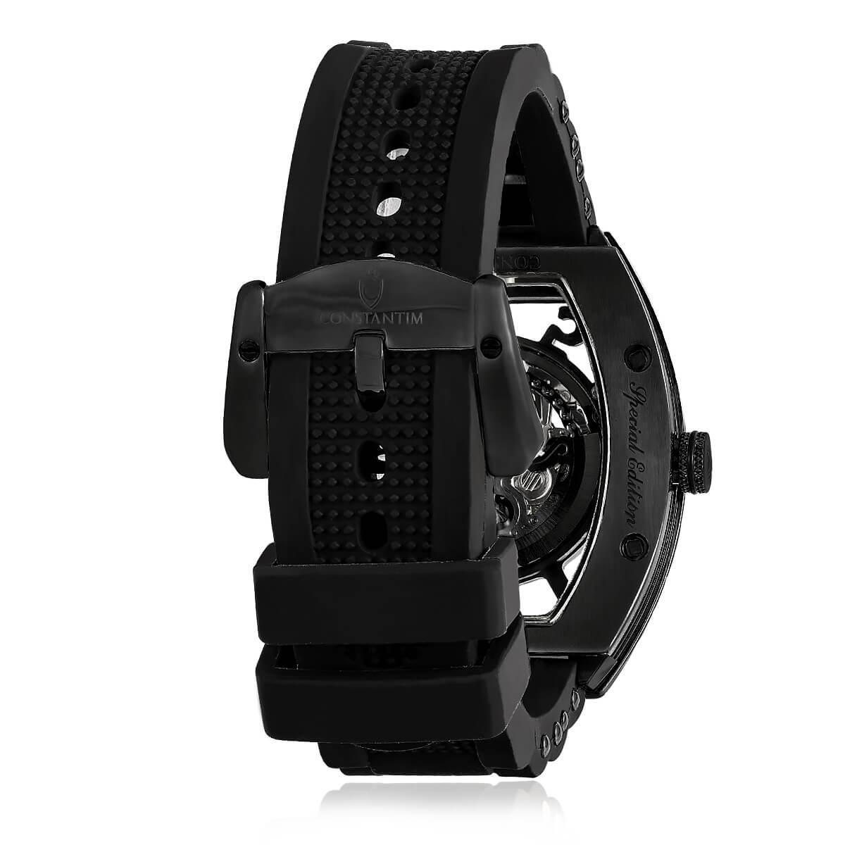 3819598e592 Relógio Masculino Constantim Full Skeleton ZW30303D Special Edition  Automatic All Black