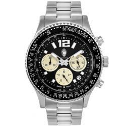0826a31fe42 Relógio Masculino Constantim Navitimer G0099D Silver Black