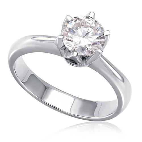 Anel Solitário de Ouro Branco com Diamante de 1,14 Ct   Joias Vip 30e2879d06
