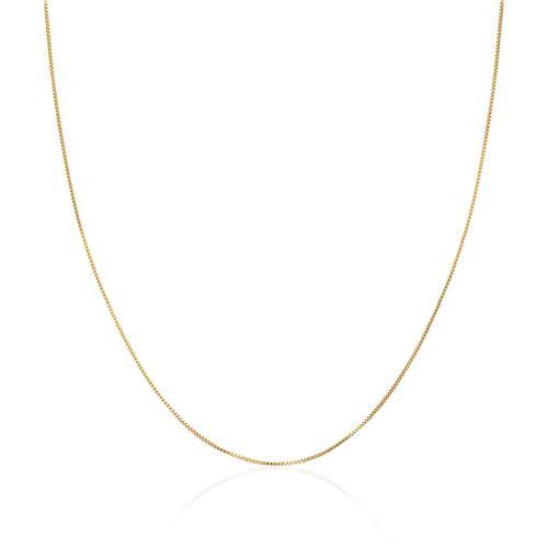 f962c711b70ab Corrente Malha Veneziana com 50 cm em Prata Folheada a Ouro 61096
