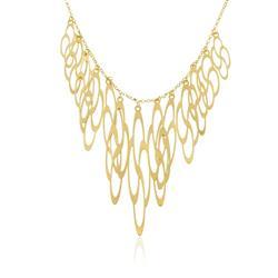Gargantilha de Ouro com Pingentes Flores 571e65d5ac