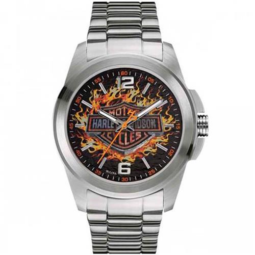 267196a533a Relógio Masculino Bulova Harley Davidson WH30528T Aço