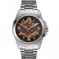 5427588c87a Relógio Masculino Bulova Harley Davidson WH30528T Aço