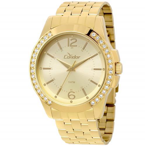 Relógio Feminino Condor Analógico CO2035KOU K4D Dourado   Joias Vip dc5f9b37b0
