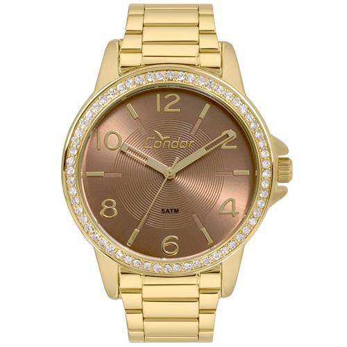 Relógio Feminino Condor Analógico CO2035KWN K4M Dourado   Joias Vip 5752865007