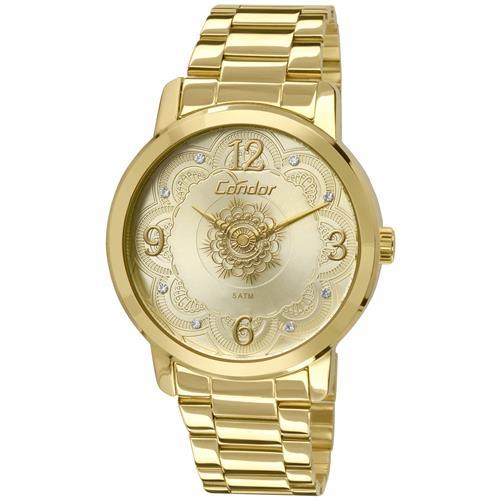 Relógio Feminino Condor Analógico CO2036CN K4X Dourado   Joias Vip 96f75976c7